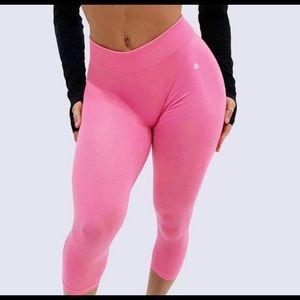 Bubble gum pink leggings!